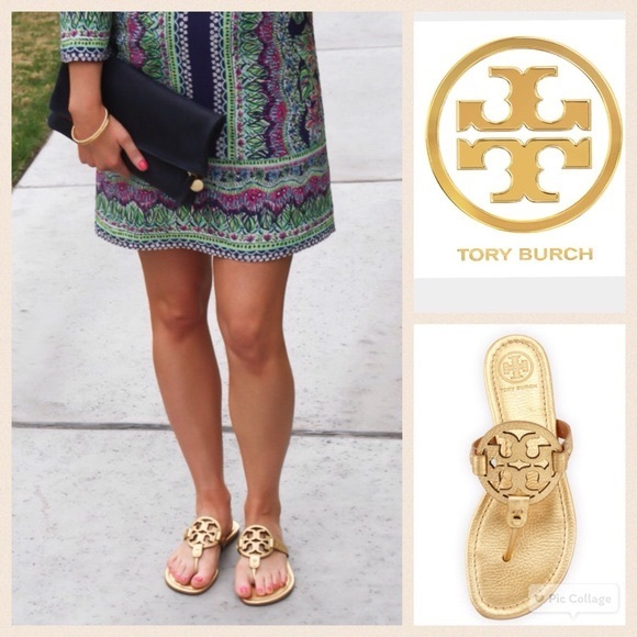 01ea4d384 Tory burch gold miller sandals 8.5. M 5a596a35739d4814587b0473